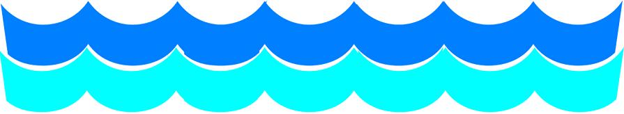 vagues bleues et cyan